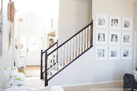 Gel Stain Banister Stair Railing Makeover One Year Later Blooming Homestead