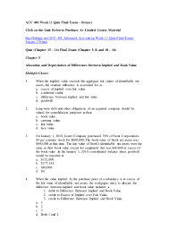 acc 401 advanced accounting week 11 quiz u2013 final exam