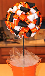 Fun And Easy Halloween Decorations Best 25 Ribbon Topiary Ideas Only On Pinterest Boy Baptism