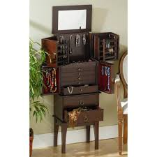 Large White Jewelry Armoire Furniture Fascinating Pine Wood Large Free Standing Jewelry