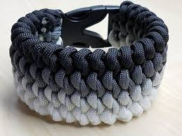 survival bracelet with buckle images Black gray silver white snake knot paracord jpg