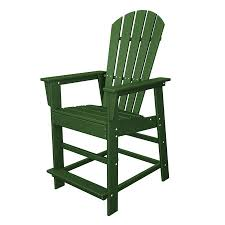 shop polywood south beach green plastic patio bar stool chair at