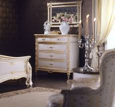 classic louis xvi bedroom bed chest of drawers wall mirror