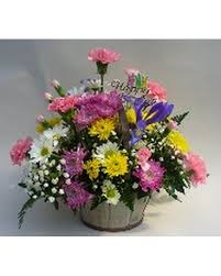 chesters flowers easter arrangement in basket in utica ny chester s flower shop
