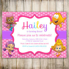bubble guppies birthday invitation bubble guppies invite