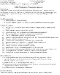 Information Desk Job Description Library Job U2013 Edith B Siegrist Vermillion Public Library