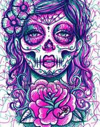 drawn skull girly skull pencil and in color drawn skull girly skull