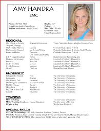 acting resume exle acting resume exles resume for study