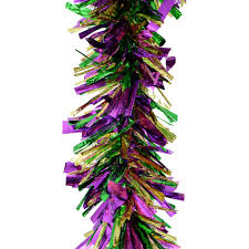 Halloween Tinsel Garland by Jumbo Mardi Gras Tinsel Garland 10