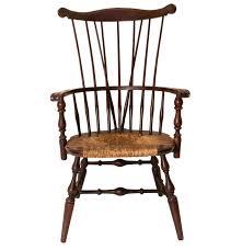 High Back Windsor Armchair Wooden High Back Windsor Arm Chair Ebth