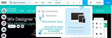 design icon wix mobile layout editing in wix denver website designer tips