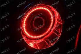 halo rings red images Multi color rgb led angel eye halo ring kit for jeep wrangler jpg