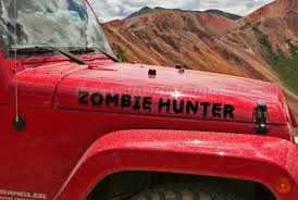 zombie hunter jeep zombie hunter apocalypse response team jeep hood decal zombie
