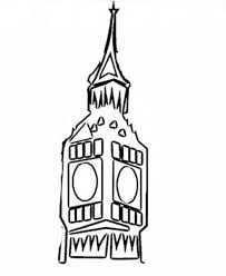 big ben clock colouring happy colouring
