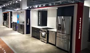 Kitchen Appliance Stores - hbc whirlpool jenn air kitchen aid appliance vignettes