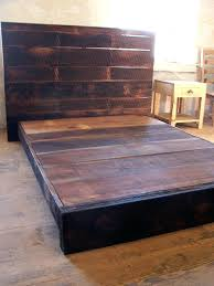reclaimed wood platform bed frame buy a hand made style low