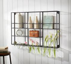 Pottery Barn Shelf Found On Editor 39 S Small Space Makeover With Pottery Barn Small