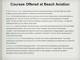 learn to fly with beach aviation ppt download