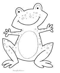 coloring pages kids frog coloring print color