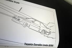 car u003e u003ebosozoku style coloring book speedhunters