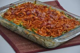 cheesy bacon green bean casserole dining with