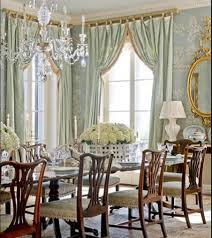french country dining room ideas with crystal chandelier and