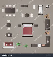 Modern Furniture Design Modern Furniture Design Elements Top View Stock Illustration