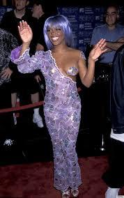Lil Kim Halloween Costumes Lil U0027 Kim U0027s Purple Pasty Moment 1999 Mtv Video Music Awards