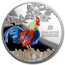 2017 new zealand 1 oz proof silver 2 lunar year of the rooster