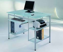 Glass Topped Computer Desk Top Glass Top Computer Desk On Computer Desk With Tempered Glass