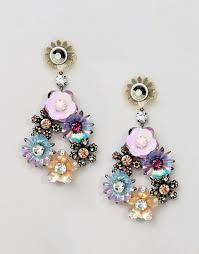 aldo earrings aldo aldo floral statement chandelier earrings