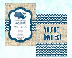 whale baby shower home design