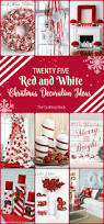 25 red and white christmas decoration ideas the crafting nook by