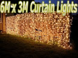 warm white string fairy lights 6m x 3m 480 leds warm white string fairy curtain lights christmas