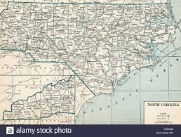 North Carolina Map Old Map Of North Carolina 1930 U0027s Stock Photo Royalty Free Image