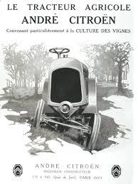 Siege De Tracteur Ancien Citroën Prototype De Tracteur En 1919