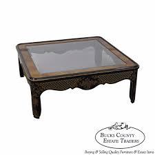 coffee table leather top romweber viking oak round leather top copper bound coffee table