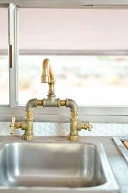 industrial style kitchen faucet kitchen design stainless steel single sink gold metal finish