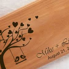 personalized cutting board wedding cutting board personalized wedding from santianshop on etsy