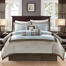 Machine Washable Comforters California King Size Bedding Borwn Taupe And Blue Comforter Set