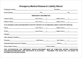 sample medical waiver form 9 download free documents in pdf word