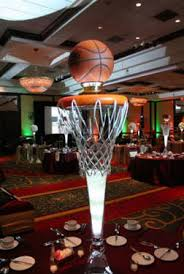 basketball centerpieces sports themed weddings sports themed wedding reception centerpieces