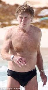 does robert redford wear a hair piece robert redford 80 looks in great shape as he takes a dip in