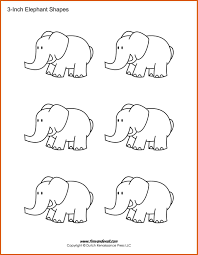 elephant cut out template apa examples