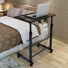 Laptop Desk With Wheels Adjustable Sofa Bed Side Table Laptop Computer Desk