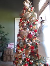 christmas tree decorating with burlap ribbon how to decorate