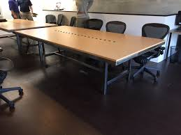 modern conference table design pasadena ca conference table with steel and maple formica top