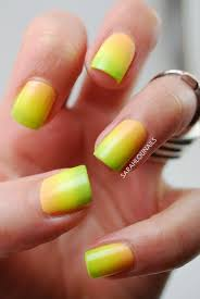 sarah lou nails neon ombre nails