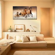 running horses printed home decor like modern wall art painting