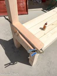 Bench Made From Tailgate Rustic Tailgate Bench Tutorial Addicted 2 Diy